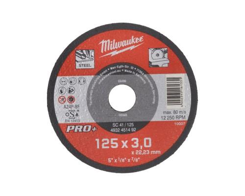 Круг отрезной по металлу D 125х3 мм SC 41/125 MILWAUKEE