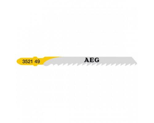 Пилка для лобзика (по дереву) AEG T101D 75х4,0 мм (5 шт.)