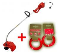 Триммер электрический EFCO 8092 + (Леска триммерная ZIGZAG PROFITRIM 1,6 мм, 10 м, красная, квадрат - 2 шт.) (Акция)