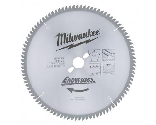 Диск пильный по пластику D 305х30х3,2 мм 96Z для торцовочной пилы MILWAUKEE