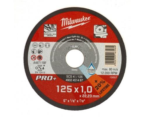 Круг отрезной по металлу D 125х1 мм SCS MILWAUKEE