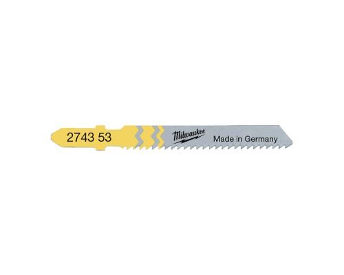 Пилка для лобзика (по дереву) MILWAUKEE T119B 50х2 мм (5 шт.)