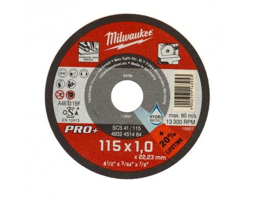 Круг отрезной по металлу D 115х1 мм SCS 41/115 MILWAUKEE