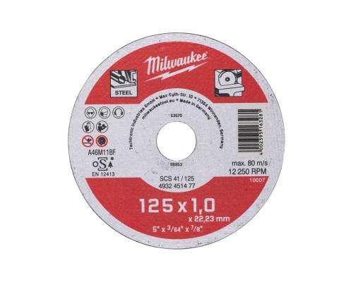 Диск отрезной по металлу D 125х1 мм SCS41 MILWAUKEE