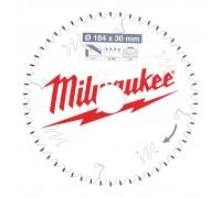 Купить Диск пильный по дереву D 184х30х2,0 мм 54Z WNF для циркулярной пилы MILWAUKEE  с доставкой в Интернет-магазин электроинсрумента - POKUPAYKA.BY
