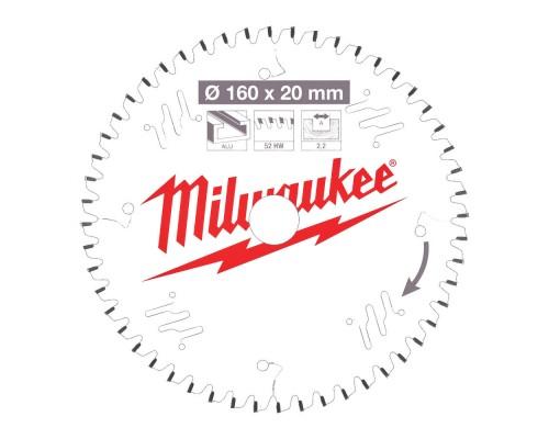 Диск пильный по дереву D 160x20x2,2 мм 42Z для циркулярной пилы MILWAUKEE