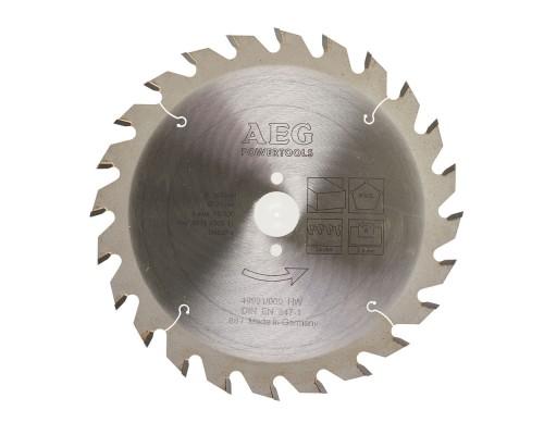 Диск пильный универсальный D 165x20 мм 24Z для циркулярной пилы AEG