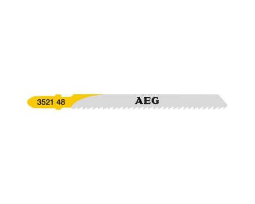 Пилка для лобзика (по дереву) AEG T101B 75х2,5 мм (5 шт.)