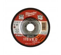 Купить Круг шлифовальный по металлу D 115мм/6 мм SG 27/115 MILWAUKEE  с доставкой в Интернет-магазин электроинсрумента - POKUPAYKA.BY