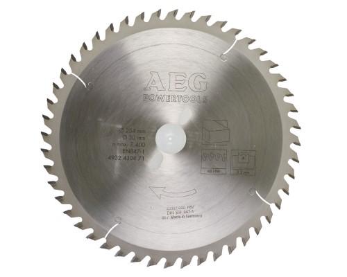 Диск пильный по дереву D 254х30х3,2 мм 48Z для торцовочной пилы AEG