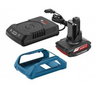 Комплект аккумулятор 12.0 В GBA12 V 1 шт. + зарядное устройство GAL 1830 W-UNI (Набор GBA 12 В 2,5 Ач + GAL 1830 W-UNI беспроводное з/у) (BOSCH) (1600A00J0F)