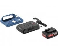 Комплект аккумулятор 18.0 В GBA18 V 1 шт. + зарядное устройство  GAL 1830  W-UNI (Набор GBA 18 V 2,0Ah + GAL 1830  W-UNI беспроводное з/у) (BOSCH) (1600A003NA)