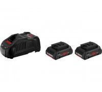 Комплект аккумулятор 18.0 В ProCORE18 V 2 шт. + зарядное устройство GAL1880CV (Набор ProCORE18 V 4,0Ah 2 шт. + GAL1880 CV) (BOSCH) (1600A016GF)