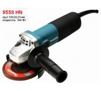 Одноручная углошлифмашина MAKITA 9558 HN в кор. (840 Вт, диск 125х22 мм, без регул. об.) (9558HN)
