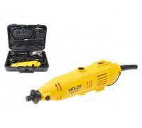 Гравер электрический MOLOT MMG 3215 E в чем. + аксессуары (150 Вт, 8000 - 32500 об/мин, цанга 3.2 мм) (MMG3215E11424)