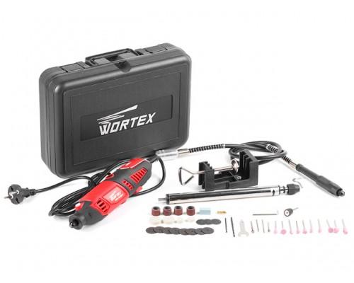 Гравер электрический WORTEX MG 3218 E в чем. + аксессуары (180 вт, 8000-35000 об мин, макс цанга 3.2 мм, чем.+ 40 аксесс., гибкий вал, держатель) (MG3218E11411)