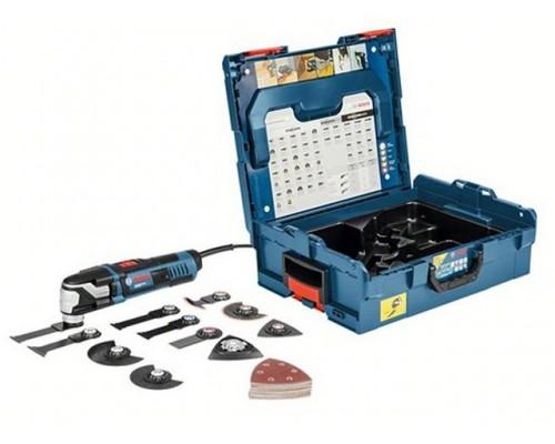 Многофункциональный инструмент (реноватор) BOSCH GOP 55-36 L-BOXX + набор оснастки (550 Вт, 8000 -20000 об/мин, StarlockMax) (0601231101)