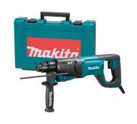 Перфоратор MAKITA HR 2641 в чем. (800 Вт, 2.4 Дж, 3 реж., патрон SDS-plus, вес 3.1 кг) (HR2641)