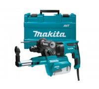 Перфоратор MAKITA HR 2653 в чем. + система пылеудаления (800 Вт, 2.2 Дж, 3 реж., патрон SDS-plus, вес 4.2 кг) (HR2653)