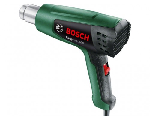 Термовоздуходувка BOSCH EasyHeat 500 в кор. (1600 Вт, 2 скор., 300-500 °С, ступенч. рег.) (06032A6020)