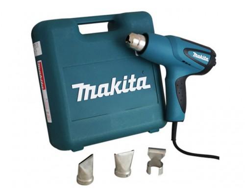 Термовоздуходувка MAKITA HG 5012 K в чем. + набор сопл (1600 Вт, 2 скор., 350-550 °С, ступенч. рег.,350-550 °С) (HG5012K)