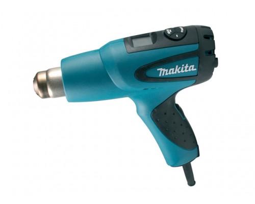 Термовоздуходувка MAKITA HG 651 CK в чем. + набор сопл (2000 Вт, 10 скор., 80-650 °С, плавн. рег., с доп. ЖКИ дисплей) (HG651CK)
