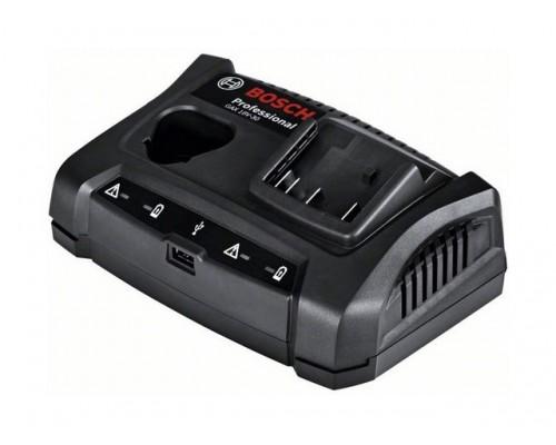 Зарядное устройство BOSCH GAX 18V-30 (10.8 - 18.0 В, 3.0 А, для профессионального инструмента, быстрая зарядка, USB) (1600A011A9)