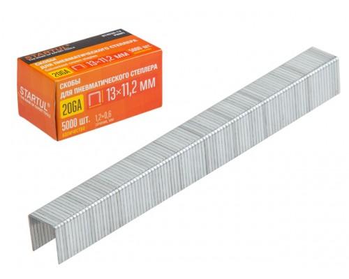 Скобы тип 20GA 10мм (5000шт) STARTUL PROFI (ST4530-10) (для пневмостеплера, сечение 1,2х0,6мм; ширина скобы 11,2мм)