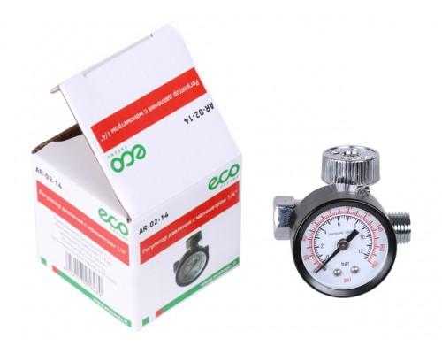 Регулятор давления  с манометром ECO AR-02-14 (резьбовое соединение 1/4