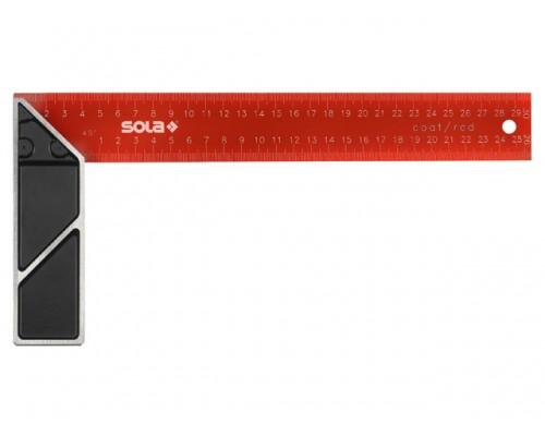 Угольник столярный 300х145мм алюм. рукоятка SRC 300 (SOLA)
