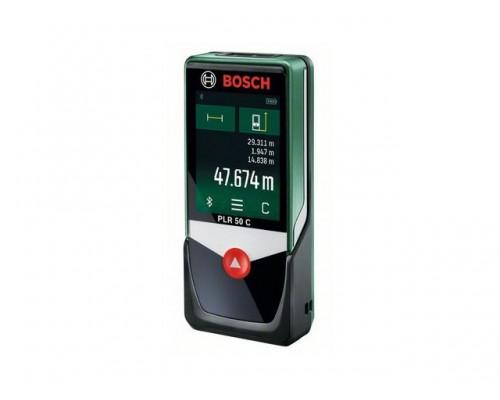 Дальномер лазерный BOSCH PLR 50 C в блистере (0.05 - 50 м, +/- 2 мм/м,)