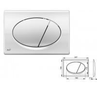 Кнопка для инсталляции (хром - глянцевая), Alcaplast