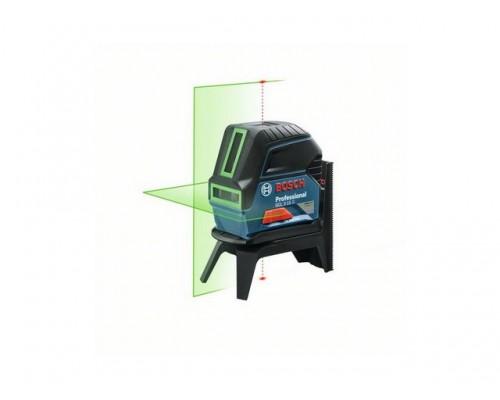 Нивелир лазерный BOSCH GCL 2-15 G с держателем в чем. (проекция: крест, до 15 м, +/- 0.05 мм/м, резьба 1/4, 5/8