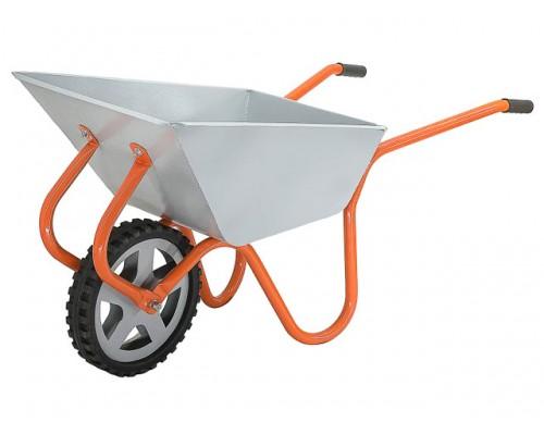 Тачка строительно-садовая ТССР-1 (100л, 120 кг, одноколесная, литая резина 380х70мм, вес 15 кг) (пр-во РБ) (КОМ)
