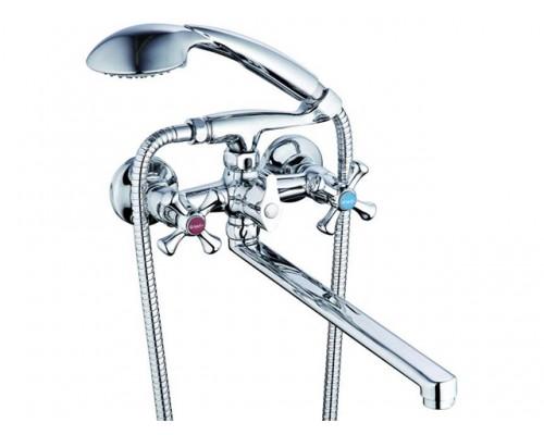 Смеситель для ванны (Lt) с плоск. изливом, QSL7-A827 G.Lauf (Смеситель латунный, Гарантия 5 лет)