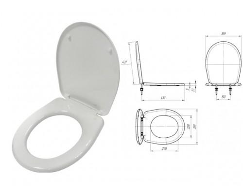 Сиденье для унитаза Каскад белое, ИнкоЭр (И-Сиденье-Каскад-1-х10-Белый Р)