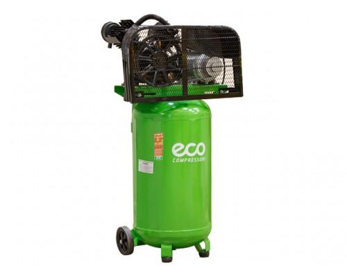 Компрессор ECO AE-1005-B2 (380 л/мин, 8 атм, ременной, масляный, вертикальный ресив. 100 л, 220 В, 2.20 кВт)