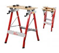 Верстак складной WORTEX WB 6080 P в кор. (60,5x64x80 см, складной, регулировка столешницы 0-90°, бамбук.стол)