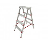 Лестница-стремянка алюм. двухсторонняя 88 см 4 ступ. 3,4кг PRO STARTUL (ST9941-04)