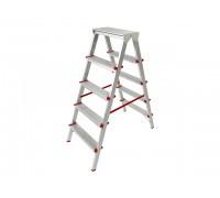 Лестница-стремянка алюм. двухсторонняя 110 см 5 ступ. 4,2кг PRO STARTUL (ST9941-05)