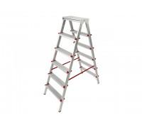 Лестница-стремянка алюм. двухсторонняя 132 см 6 ступ. 5,0кг PRO STARTUL (ST9941-06)